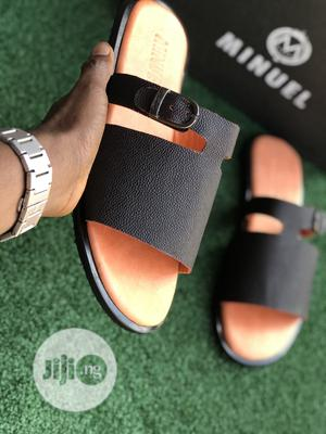 Black Cover Palm With Side Buckle   Shoes for sale in Lagos State, Mushin