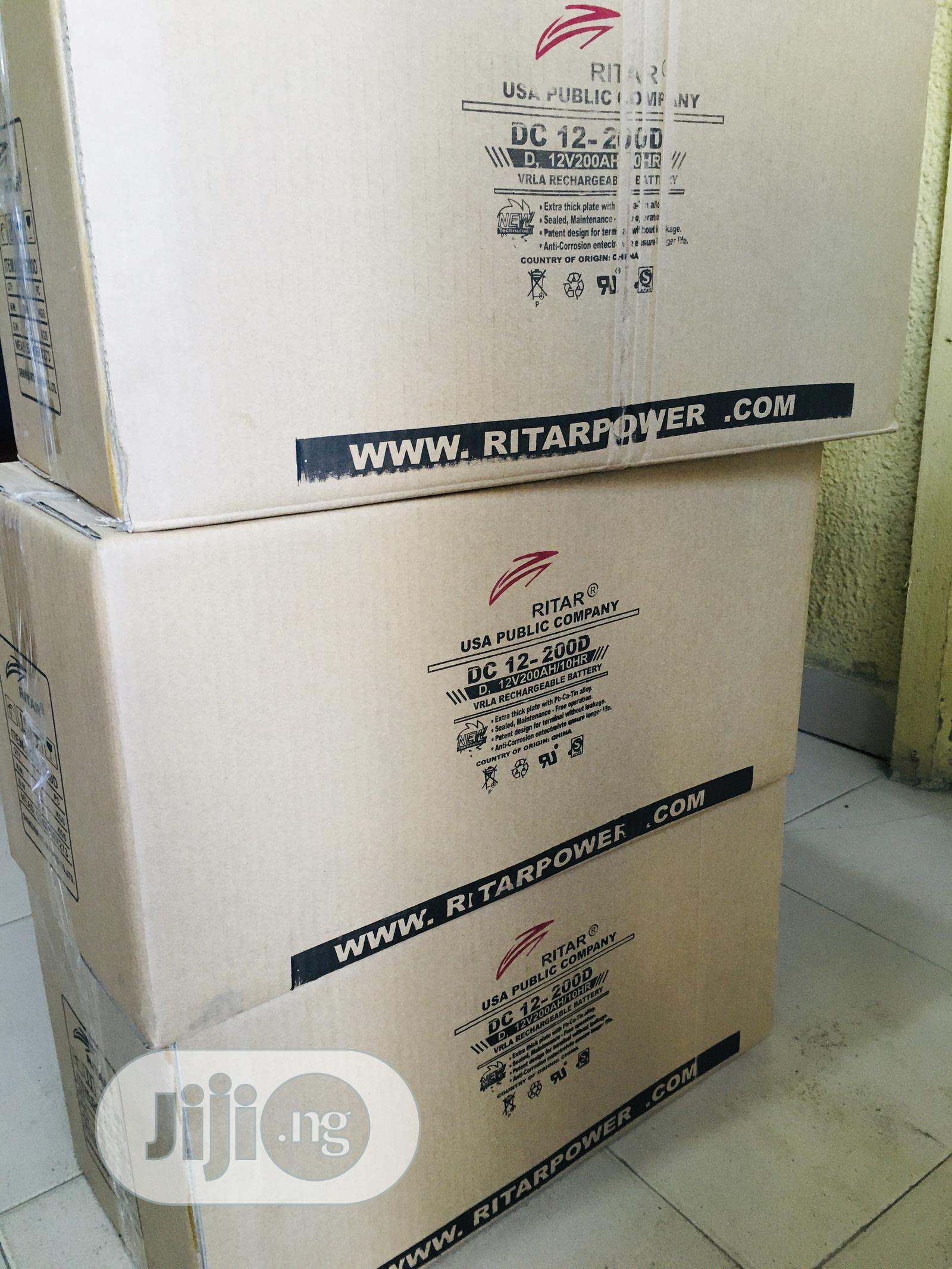 200ah 12v Ritar Battery Available With 1yr Warranty | Solar Energy for sale in Lekki, Lagos State, Nigeria