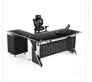 Executive Glass Table With Drawer Size 1.4 | Furniture for sale in Lagos State, Yaba