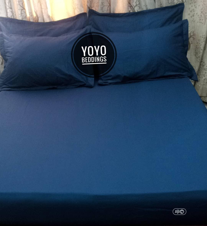 Navy Blue Plain Bedsheet
