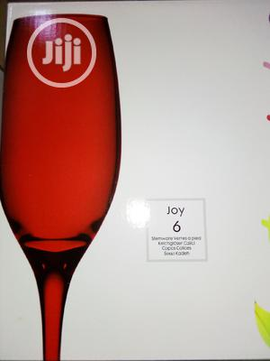 6pcs Red Champagne/Wine Glasses | Kitchen & Dining for sale in Lagos State, Lagos Island (Eko)