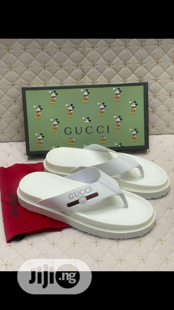High Quality Italian Pure White Gucci Palm