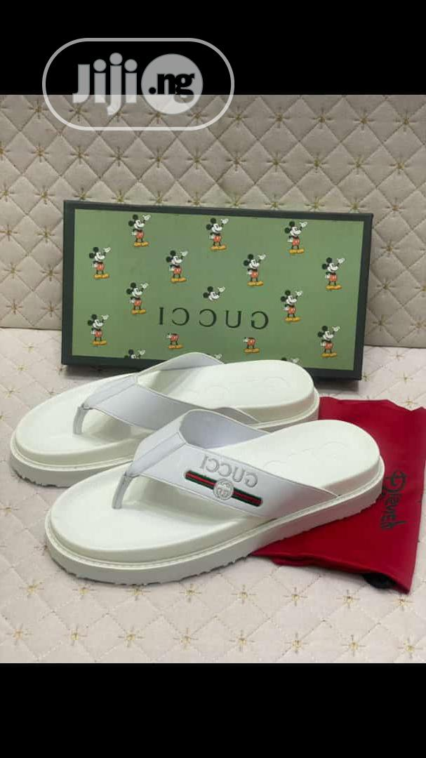 High Quality Italian Pure White Gucci Palm   Shoes for sale in Surulere, Lagos State, Nigeria
