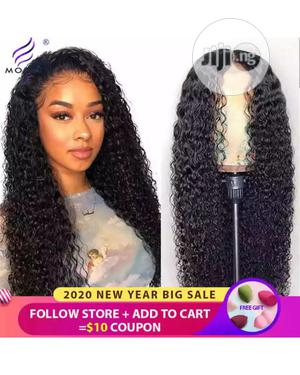 Long Curly Human Hair Wig With Closure   Hair Beauty for sale in Lagos State, Ikeja