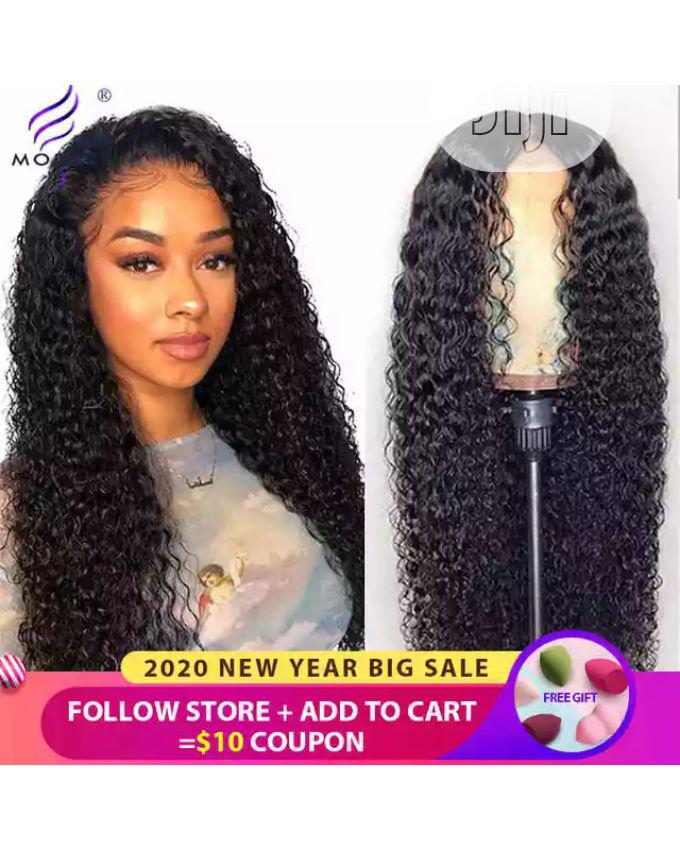 Archive: Long Curly Human Hair Wig With Closure