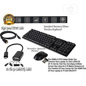 Standard Business Wireless Keyboard Optical Mouse 18   Computer Accessories  for sale in Lagos State, Victoria Island