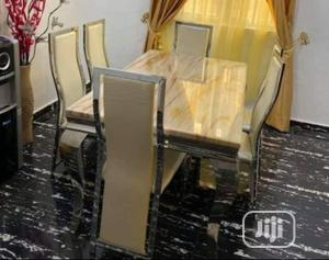 Affordable Marble Dining Table With Six Chairs | Furniture for sale in Lagos State, Ibeju