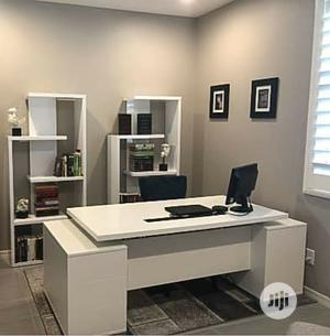 Office Desk With Bookshelf Rack | Furniture for sale in Lagos State, Victoria Island