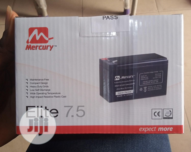 Mercury Ups Battery 12v 7.5AH