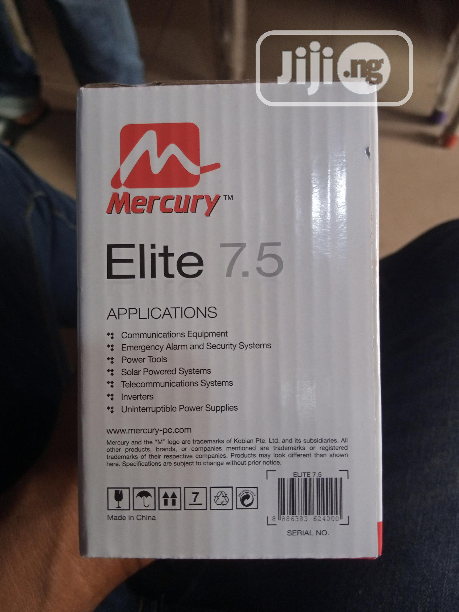 Mercury Ups Battery 12v 7.5AH   Computer Hardware for sale in Ikeja, Lagos State, Nigeria