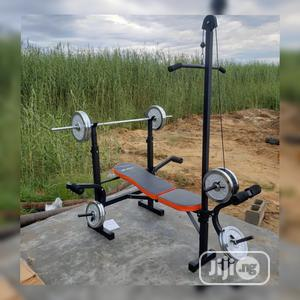 Multi Purpose Weight Bench With 50kg Barbell | Sports Equipment for sale in Abuja (FCT) State, Maitama