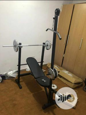 Brand New Multi Purpose Weight Bench With 50kg Dumbbell | Sports Equipment for sale in Lagos State, Victoria Island