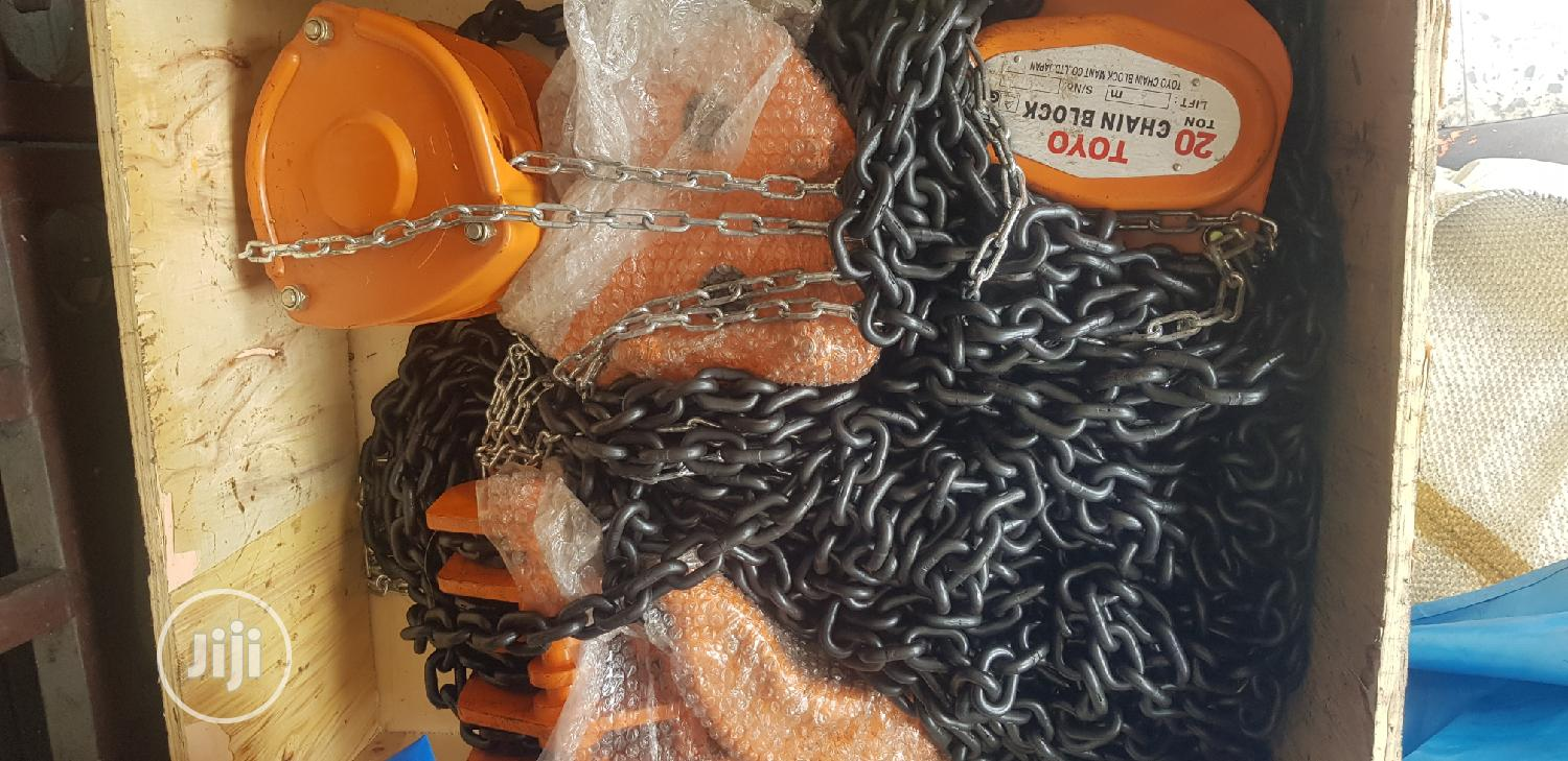 Chain Block 20ton X 3m TOYO, Japan   Manufacturing Equipment for sale in Port-Harcourt, Rivers State, Nigeria