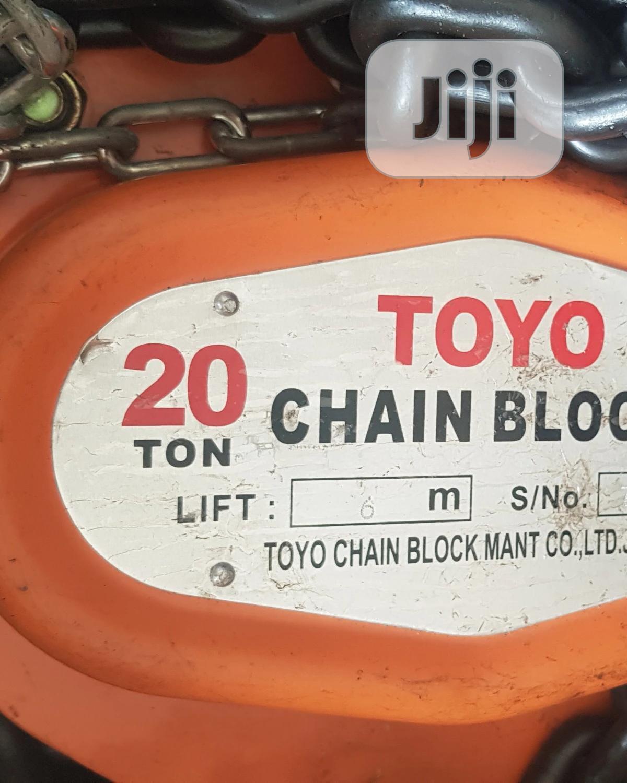 Chain Block 20ton X 3m TOYO, Japan