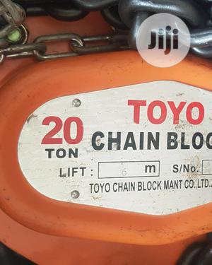 Chain Block 20ton X 3m TOYO, Japan | Manufacturing Equipment for sale in Rivers State, Port-Harcourt