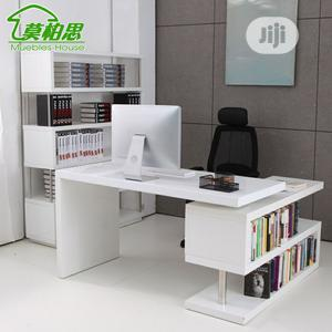 Office Desk,,, With Bookshelf Rack | Furniture for sale in Lagos State, Ikoyi