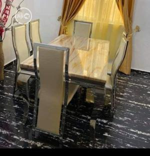 Affordable Marble Dining Table With Chairs | Furniture for sale in Lagos State, Yaba