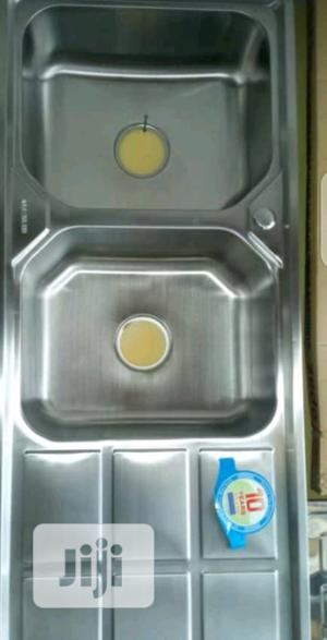 Stainless Kitchen Sink Double Bowl And Single Tray | Restaurant & Catering Equipment for sale in Lagos State, Orile
