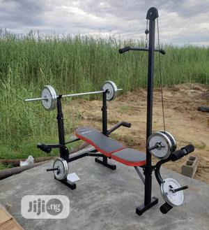 Multi Purpose Weight Bench With 50kg Barbell | Sports Equipment for sale in Abuja (FCT) State, Galadimawa