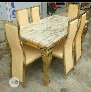 Quality Affordable Marble Dining Table With Chairs | Furniture for sale in Lagos State, Ibeju