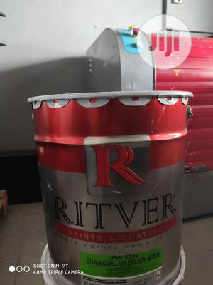 Ritver Silver Emulsion Paint (20ltrs White)   Building Materials for sale in Rivers State, Port-Harcourt