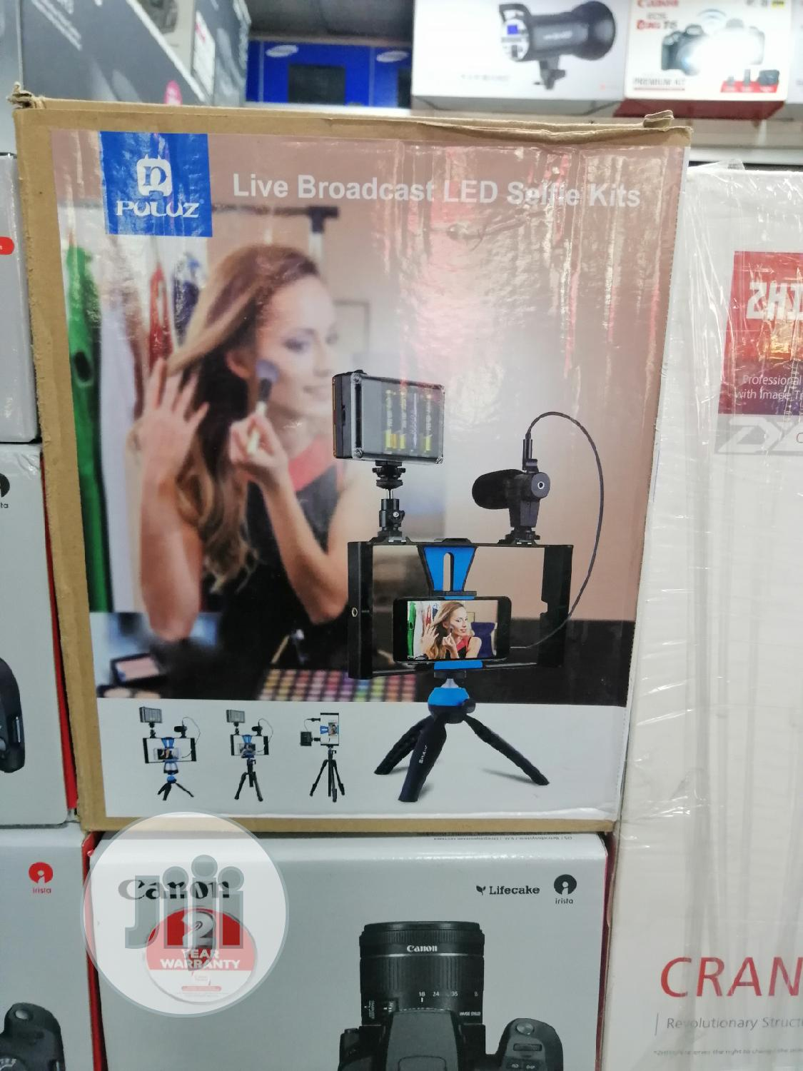 3in1 Phone Selfie Led Broadcast Tripod Stand   Accessories & Supplies for Electronics for sale in Ikeja, Lagos State, Nigeria