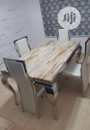 Affordable Marble Dining Table With 4 Chairs | Furniture for sale in Lagos State, Maryland