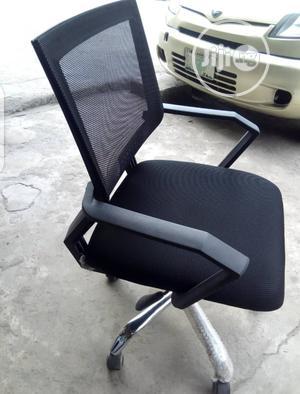 Black Sturdy Mesh Swivel Office Chair   Furniture for sale in Lagos State, Lagos Island (Eko)
