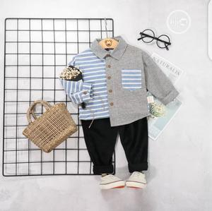 Boys Half Check Print Shirt And Trouser | Children's Clothing for sale in Lagos State, Surulere