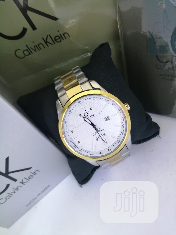 Calvin Klein (CK) Gold/Silver Chain Watch