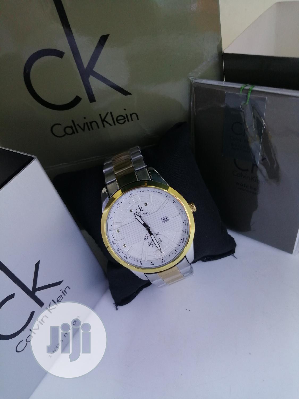 Calvin Klein (CK) Gold/Silver Chain Watch | Watches for sale in Lagos Island (Eko), Lagos State, Nigeria