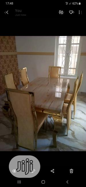 Golden Marble Dinning Table Set | Furniture for sale in Lagos State, Ojo