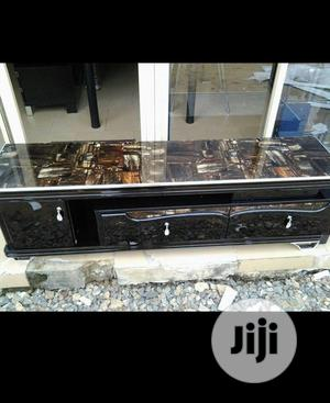 Original Quality Marble Top TV Stand With 2 Drawer   Furniture for sale in Lagos State, Shomolu