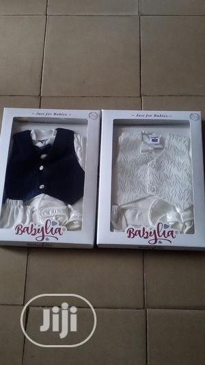 Babylia Baby Boy Christening Cloth Set   Children's Clothing for sale in Lagos State, Agege