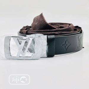 Louis Vuitton (LV) Leather Belt for Men's   Clothing Accessories for sale in Lagos State, Lagos Island (Eko)