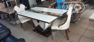 Quality Marble Top Dinning With 6 Chairs | Furniture for sale in Lagos State, Badagry