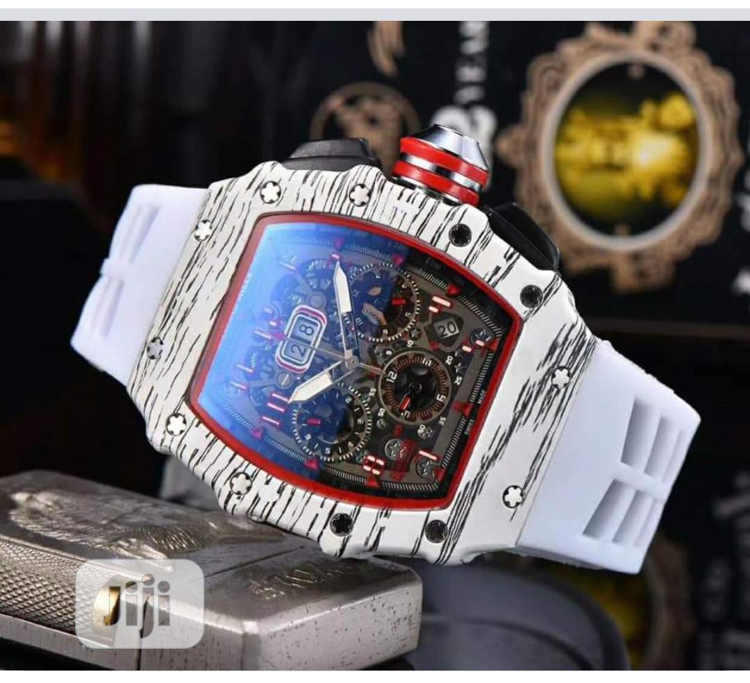 Richard Mille Men's White Rubber Wristwatch