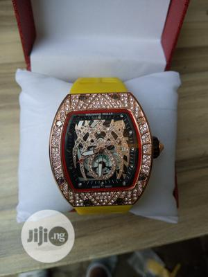 Richard Mille Men's Yellow Rubber Wristwatch   Watches for sale in Lagos State, Surulere