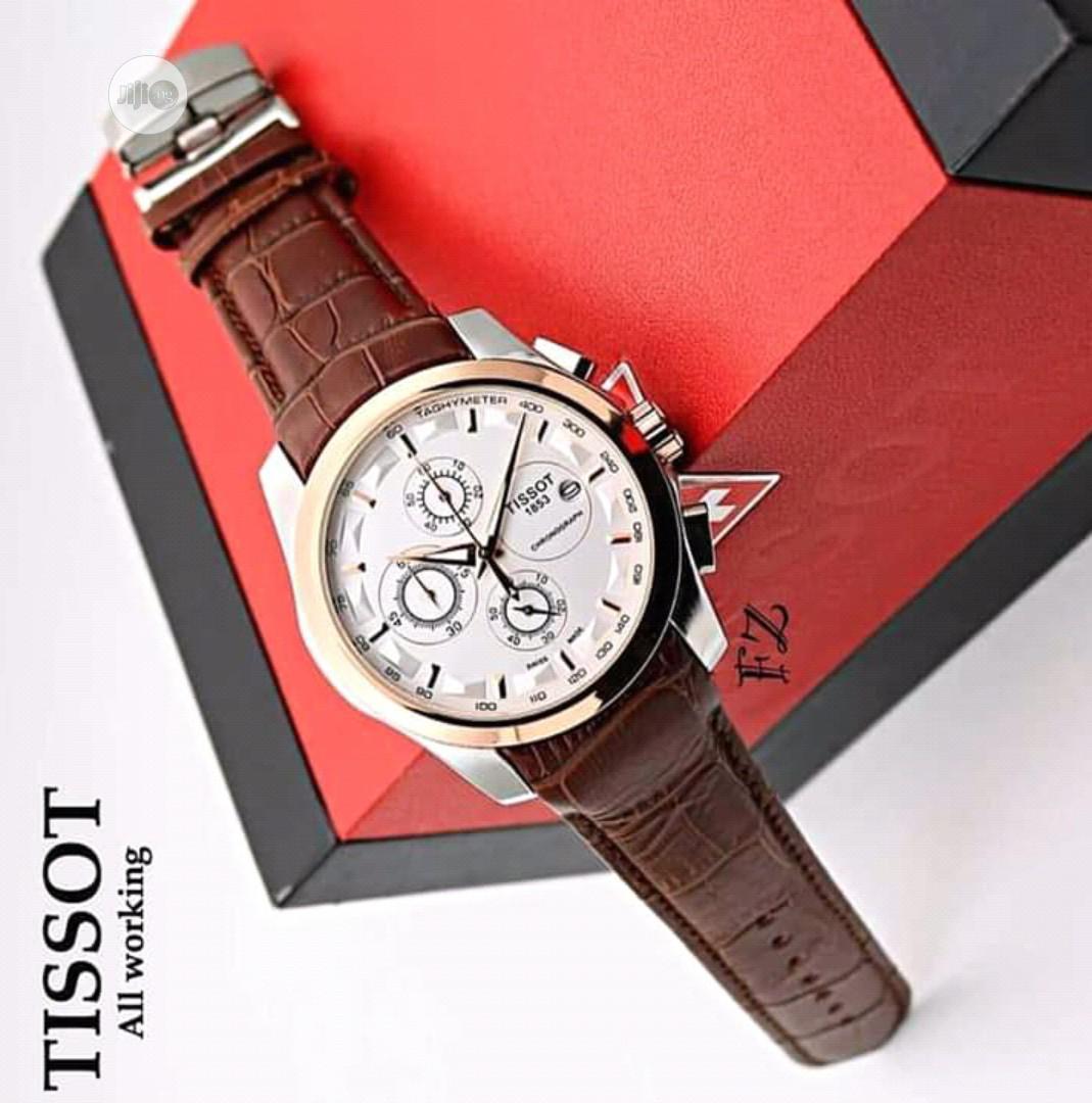 Tissot Men's Leather Wristwatch
