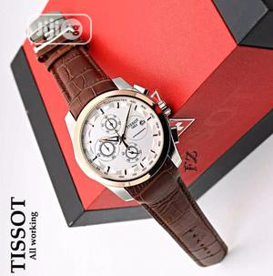 Tissot Men's Leather Wristwatch   Watches for sale in Lagos State, Surulere