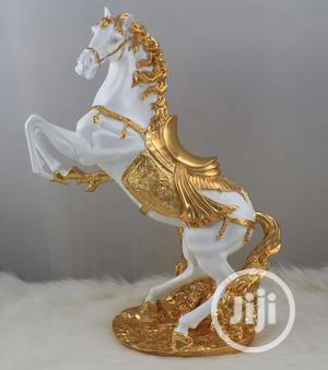 Artificial Gold And White Horse | Home Accessories for sale in Abuja (FCT) State, Wuse