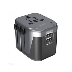 Porodo Universal Travel Adapter With Dual USB Port 2.4A | Accessories for Mobile Phones & Tablets for sale in Lagos State, Ikeja