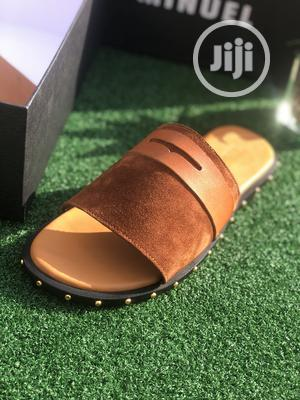 Brown Suede Slip on With Gold Stone   Shoes for sale in Lagos State, Mushin