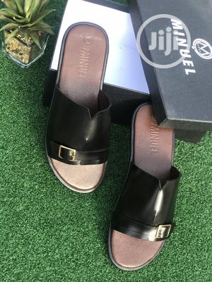 Black Leather Cover Palm With Side Buckle | Shoes for sale in Lagos State, Mushin