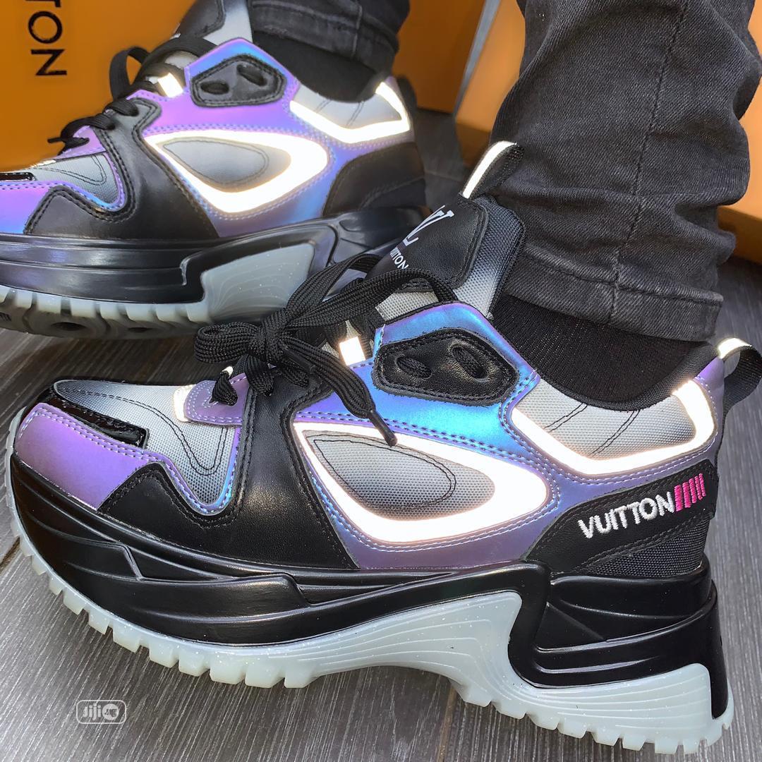 Virgil Abloh Louis Vuitton Men'S Spring 2 Reflective_type Purple Blck | Shoes for sale in Amuwo-Odofin, Lagos State, Nigeria
