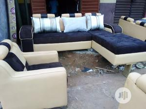 L-Shaped Sofa With Throw Pillows | Furniture for sale in Lagos State, Lekki