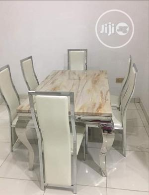 Reliable Marble Dining Table With 6 Chairs Brand New and Imported | Furniture for sale in Lagos State, Oshodi