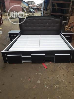 6by6 Bed Frame With Double Side Drawer | Furniture for sale in Lagos State, Ojo