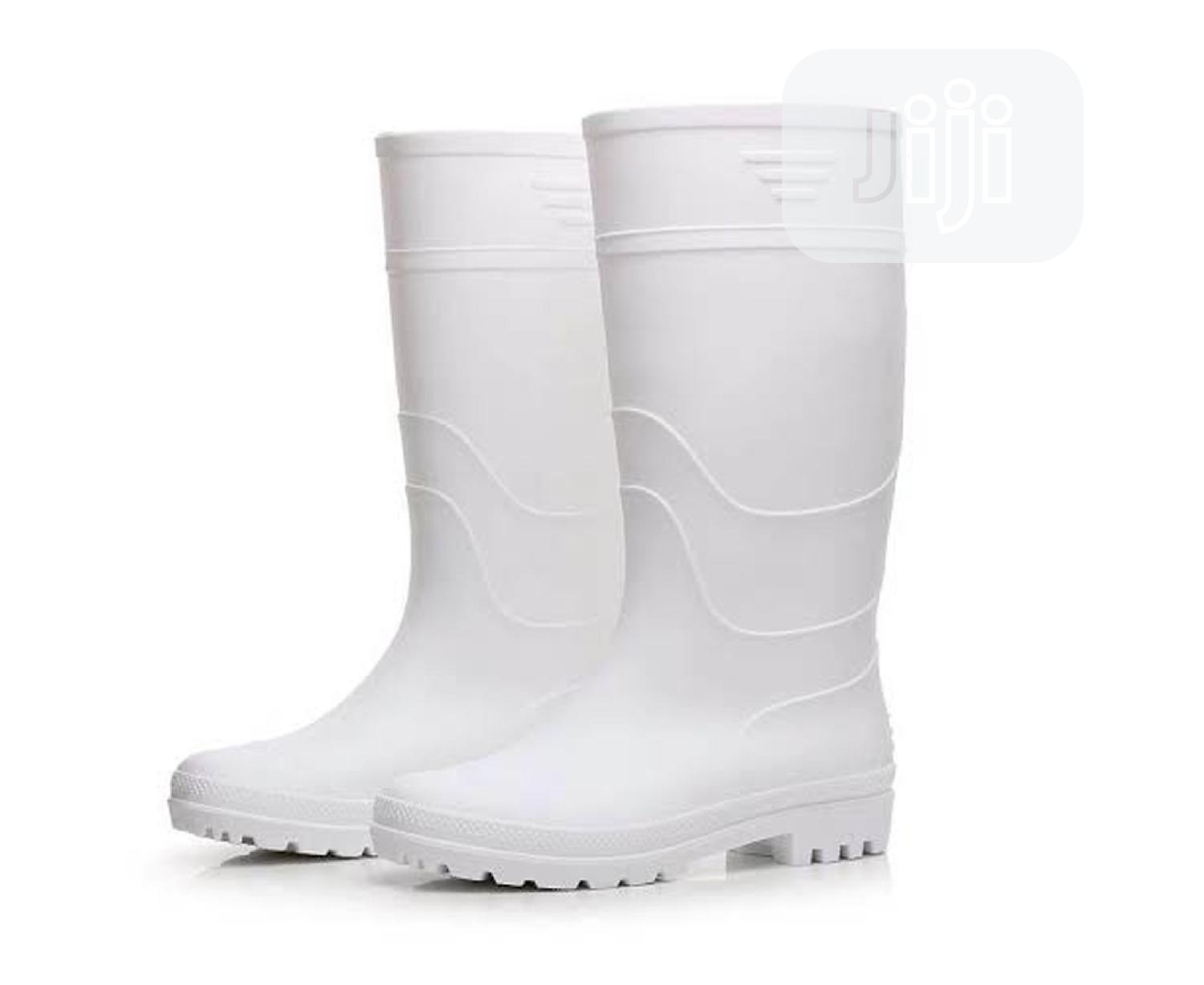 Archive: White Safety Rain Boots