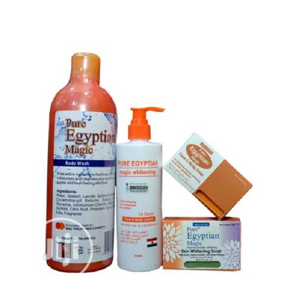 Pure Egyptian Magic Whitening Lotion Bath, and Facial Soaps